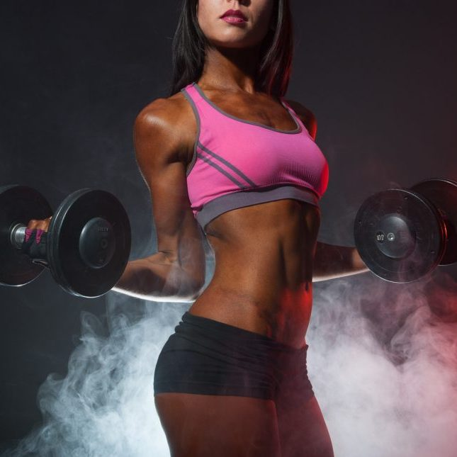 african american woman in gym